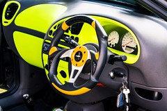 My Eyes (technodean2000) Tags: ford yellow eyes fiesta interior board fluorescent dash luminous worldcars