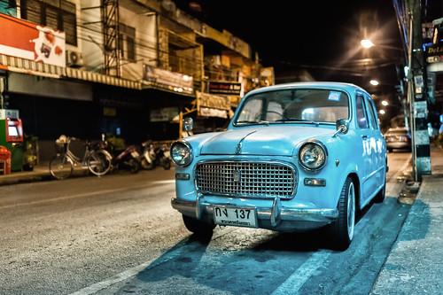 Fiat 1100 Export - Amphoe Mueang Chiang Mai, Chang Wat Chiang Mai, Thailand - 29/03/2015 03h00