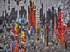 Men Blasting Lines 46 ( Gillfoto) Tags: blast men alaska juneau orange blue abstract construction