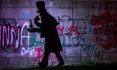 Stadtlichter (achim-51) Tags: lichtkunst lightart unna westfriedhof nrw de germany nachtaufnahme langzeitbelichtung farben farbenspiel panasonic dmcg5 lumix grafiti