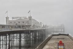 Misty pier and groyne (Bendigoish) Tags: pier groyne brighton mist fog water sea