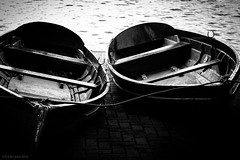 2 boats (rich lewis) Tags: mono monochrome blackandwhite rowingboat richlewis boat