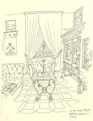 Chez ma grand mère, l'Hôpital, Lorraine (lolo wagner) Tags: croquis sketch usk lorraine intérieur