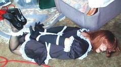 Copy of __hr_P1010003 (sub tv Susan from Kent U.K) Tags: bondage bdsm submissive heels hogtied tranny crossdresser