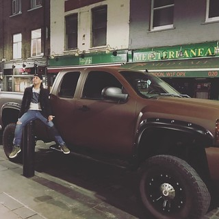 Late night shenanigans. #London #Soho #4x4 #car
