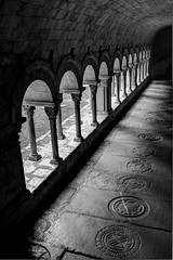 Hace siglos (matteo.reggio) Tags: sony rx1r 35mm zeiss espaa spain catalunya catalua girona gerona claustro blackwhite bw noiretblanc light shadows architecture historical travel hdr