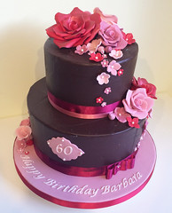 Chocolate Roses 60th Cake