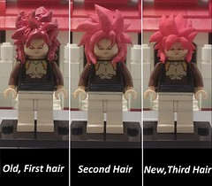 ssj 4 gogeta old vs new (teamfourstud) Tags: custom minifigures mini figures dragonball z dragon ball dragonballz sculpt lego super saiyan 4 supersaiyan4 gogeta gt dbz dbgt goku vegeta old vs new