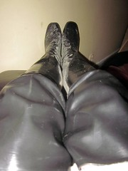 tested my new 80cm Acquo rain boots (camilla100) Tags: acquo rain boots new wellies black