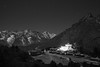 Shingin Tengboche monastery at night (Petr Meissner) Tags: tengboche exhibition thyangboche geographicfeatures earth ebctrek stars motion monastery khumbu