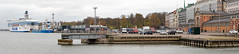 Southern harbour, Helsinki - Explored (Poupetta) Tags: panorama helsinki harbour finland boat ferryboat cars