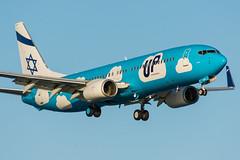 4X-EKM - UP by El Al - Boeing 737-804(WL) (5B-DUS) Tags: 4xisrael 4xekm boeing737800 planes upbyelal up by el al boeing 737804wl 737 b738 737800 lca lclk larnaca larnaka international airport airplane aircraft aviation cyprus flughafen flugzeug plane planespotting spotting