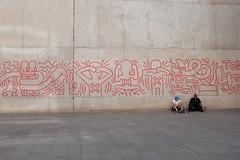 Haring, raval Barcelona (lesfotosdelmarc) Tags: haring barcelona raval fujix100t