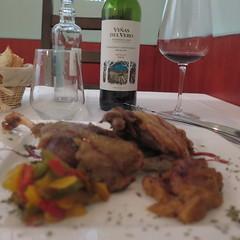 Quail and Somontano (oursonpolaire) Tags: camino2016 catalonia saragossa zaragoza lunch cena quail codorniz