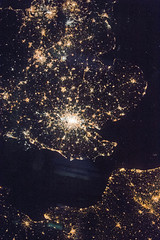 English Channel (sjrankin) Tags: 2december2016 edited nasa iss iss050 iss050e12309 europe citylights uk england wales france englishchannel london cities