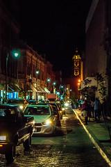 Calle obregon (SeorNT) Tags: obregon slp street night cars traffic tower colonial old arch