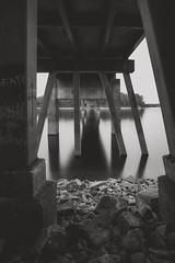 Vanishing Point (Travis Rhoads) Tags: 2016 metaboneseftoeivt sonyilce7rm2a7rii canonef1740f4l gitzogt2830basaltseries2 reallyrightstuff rrspcl01 filters leefoundationkit leelittlestopper blackwhite bridges longexposure monochrome nikcollectionbygoogle copyright2016 travisrhoadsphotography water georgia lakelanier brownsbridge