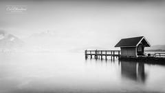 Instant figé (cedric.chiodini) Tags: noiretblanc nb bw blackandwhite le longexposure poselongue sevrier annecy lac lake paysage landscape nd1000 canon simple minimaliste