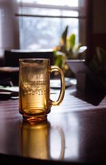 coffee mug (341/366) (severalsnakes) Tags: ks2 m2828 missouri pentax saraspaedy sedalia centennial commemorative glass kitchen manual manualfocus mug reflection sunlight table