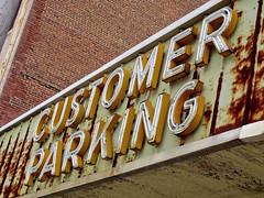 Customer Parking, Augusta, GA (Robby Virus) Tags: augusta georgia customer parking sign neon signage abandoned rust rusty