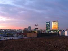 P1070584 (legrandRJ) Tags: roof munich münchen roofing toits toit batiment soleil couchant