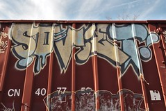 SOVIET (TheGraffitiHunters) Tags: graffiti graff spray paint street art colorful freight train tracks benching benched boxcar soviet floater