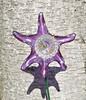 Star Flower (NiftyBitsGallery) Tags: starfish gardenart outdoorgarden purple glass art creativity mini flower beach decor vintage garden fairy colors mermaid decoration plant home