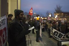 Speaker at a rally for a $15/hr minimum wage (Fibonacci Blue) Tags: minneapolis mpls protest rally march demonstration university event twincities minnesota worker wage minimum fightfor15 speaker speech student income economic economy activist activism