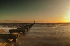 Blundellsands (Tony Shertila) Tags: 20150827221527 blundellsands blundellsandsward england gbr geo:lat=5348117627 geo:lon=304615259 geotagged unitedkingdom europe britain merseyside liverpool crosby beach weather day clear sky horizon structure sunset water sea irishsea tide waves outdoor