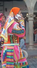 In Cusco, Peru (eltpics) Tags: eltpics cusco traditional costume mobile phone communication