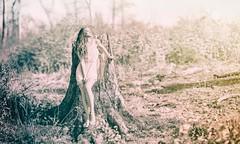 Springtime (hispan.hun) Tags: brenizer bokeh bokehrama panorama vintage canonfd beauty spring selective blackandwhite blackwhite girl woman forest sonyphotography manualfocus hispansphotoblog