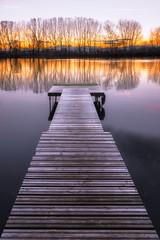 Le ponton (Stphane Slo) Tags: ain france hiver paysage pentax pentaxk3ii printemps sane campagne clouds eau landscape nature nuages ponton reflection reflexion