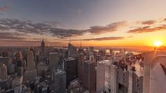 (rh89) Tags: new york city nyc ny rockefeller centre center top rock fuji fujifilm x70 pano panorama flare sunset view cityscape architecture archi empire state topoftherock rockefellercenter wide angle sunlight sun light