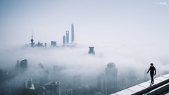 skywalker (blackstation) Tags: sky cloud  city man skywalker
