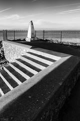 Millenium (FTonyC) Tags: blackandwhite monochrome x100s steps sculpture millenium contrast seaside concrete architecture design seawall