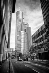 The Main Tower, Frankfurt (joeriksson) Tags: citiesofeurope monochrome travel street bnw architecture frankfurt wanderlust leicaq tower city