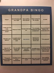 Woman Turns Grumpy Grandpa's Vices Into Entertaining Game of Bingo for the Whole Family (Chikkenburger) Tags: memebase memes art trolling pranks tricks lies aot internet troll cheezburger chikkenburger