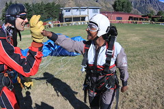 High 5 with Sasa (NZONE Skydive) Tags: newzealand skydiving southisland queenstown skydive parachuting parachute freefall tandemskydive tandemskydiving freefalling