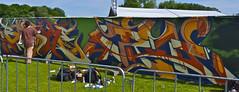 I love Hip Hop 2013 Graffiti Tour @ Parkpop (Akbar Sim) Tags: streetart holland graffiti nederland denhaag thehague zuiderpark parkpop lahaye agga 2013 baske akbarsimonse haagsgraffitiplatform akbarsim ilovehiphop2013graffititour