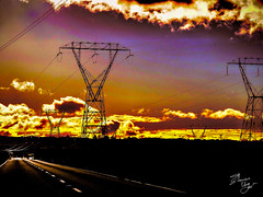 Life is a Highway (Steven Ung) Tags: road sunset newzealand clouds rural dark highway power state farm powerlines waikato su taupo powerpole hdr stevenung