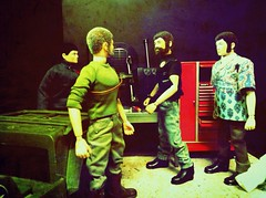 The Adventure Team Get Their Equipment Ready For The Next Mission. (chevy2who) Tags: man scale vintage gijoe toy counter action culture joe adventure 12 16th comrade gi hasbro tean