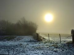 Freezing Fog at Farleigh Wallop (Beardy Vulcan) Tags: trees winter england sun snow cold field weather fog rural fence freezingfog path foggy freezing frosty hampshire february 2012 basingstoke brassmonkeys farleighwallop