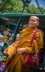 Monk. (Conor McGeady) Tags: street orange man walking thailand asia market bangkok candid buddhist religion streetphotography monk streetphoto religeon easternasia