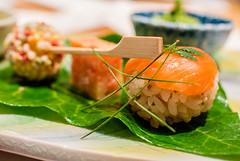 Temari sushi (alexkane) Tags: food fish japan dinner sushi asian japanese asia good ryokan  japanesefood nagano kaiseki temari 2013 sushiball