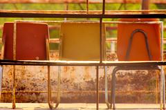 Chair Friends (TPorter2006) Tags: rural vintage rust colorful texas chairs grove stadium retro september honey seats 2013 honeygrove tporter2006 herowinner