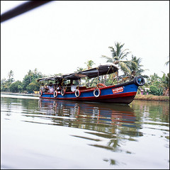 (*johnnyfavorite) Tags: trip travel trees india 120 6x6 film water analog square boat fuji kerala palm canals hasselblad journey epson medium format provia backwaters houseboats alleppey 100f 500cm alappuzha v700 johnnyfavorite