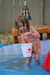 Water Fight! (Vegan Butterfly) Tags: birthday party playing cute water girl kid bucket fight child play adorable