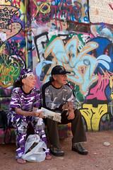 Urban Camo (Ashtropy) Tags: life street old travel people usa colour wall southdakota canon eos graffiti couple candid camouflage rapidcity 2012 artalley 1100d efs1585mmf3556isusm rebelt3