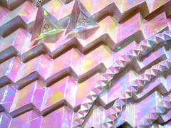 Geoscape 1 (GeoVerseau) Tags: art geometric modern rainbow origami hologram prism jewelry iridescent
