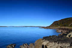 Ayrshire Costilne (Anne Oldfield) Tags: blue sea sky coast scotland ayrshire portencross